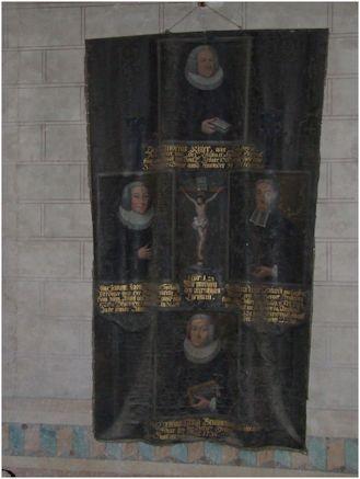 Bild des Präpositus Ritter und seiner drei Schwiegersöhne